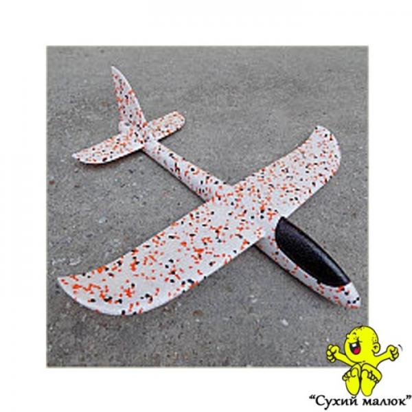 Дитячий планер метальний, літак з пінопласту, камуфляжний 48см