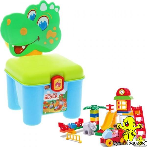 Конструктор-стілець Дракончик зелений 3166A, 46 деталей