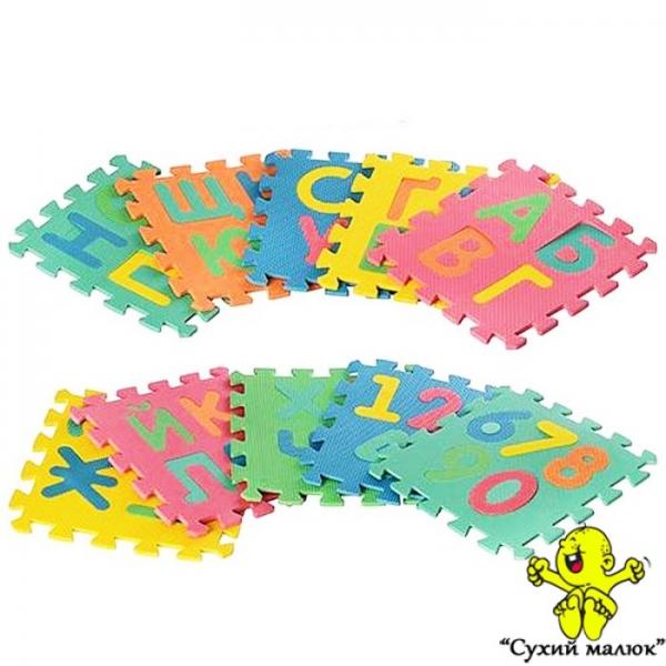 Дитячий килимок пазл Мозаїка Алфавіт 2736, 1 рік+