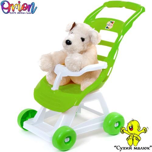 Візок коляска для ляльки Orion бірюза арт.147