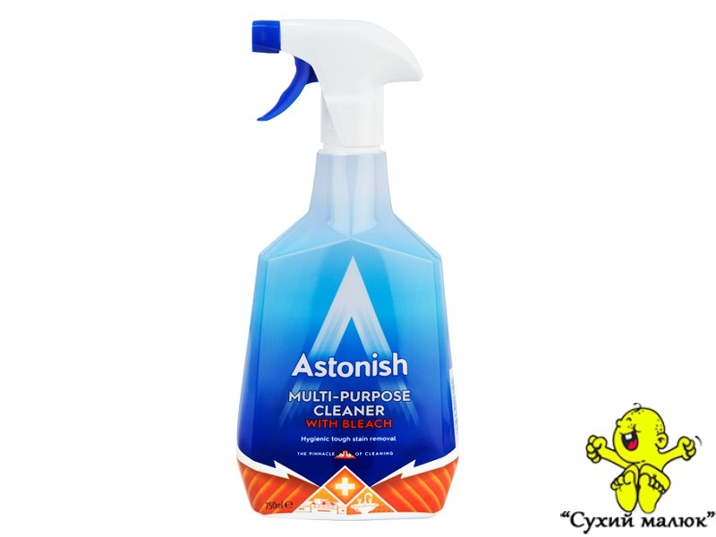 Засіб для чищення Astonish multi purpose with bleach 750мл.