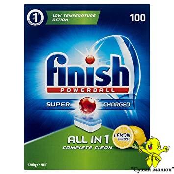 Таблетки до посудомийної машини Finish All in 1 Lemon, 100 табл.