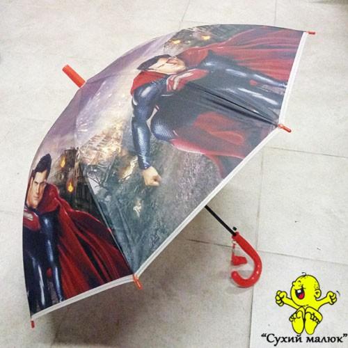 Парасоля дитяча Супермен 54см. свисток, арт.3608-1
