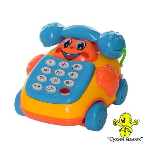 Телефон каталка музичний арт.619, 8,5см., в асортименті