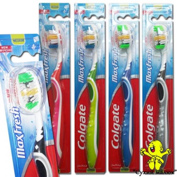 Зубна щітка Colgate Max Fresh Medium, Poland в асортименті