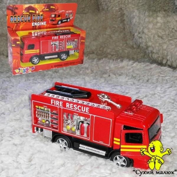 Машинка Пожежна модель, метал, інерційна 12,5см., арт.KS 5110 W