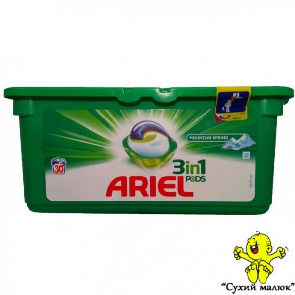 Капсули для прання ARIEL 3in1 PODS Mountain Spring 30шт.