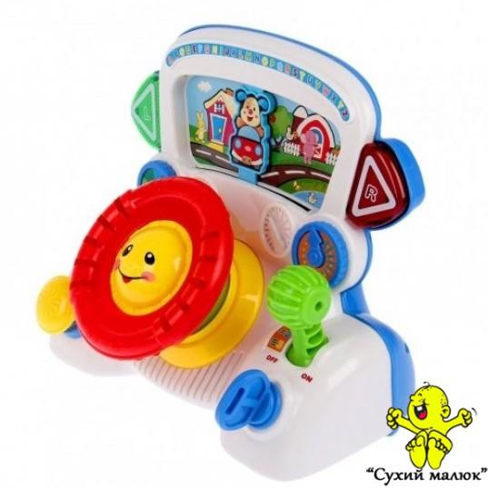 Дитячий автотренажер Steering Wheel, музичний, англійська мова
