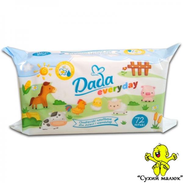 Вологі серветки Dada для немовлят (72шт)