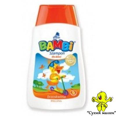 Шампунь дитячий BAMBI персик (300мл) 12міс. +