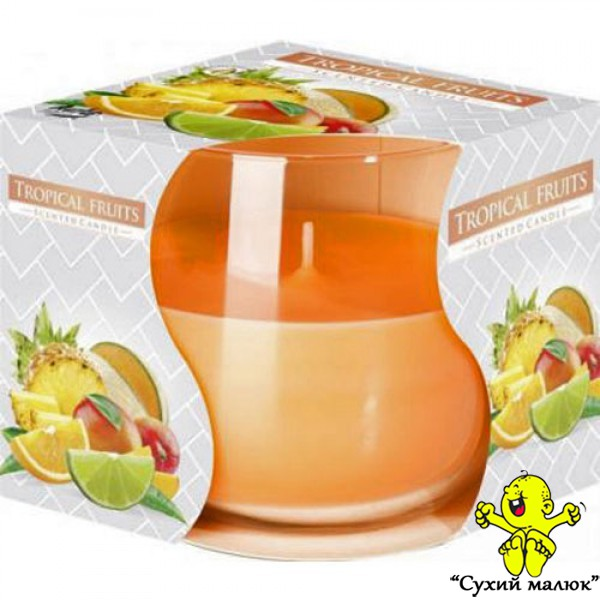 Свічка ароматизована Bispol Тропічні фрукти (7 см)