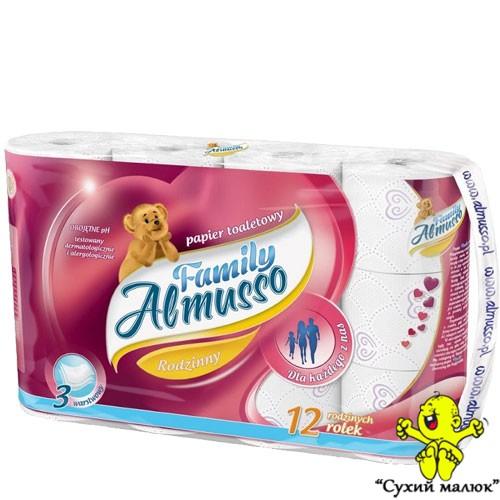 Туалетний папір Almusso Family 12рул. / 3 шари