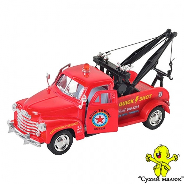 Машинка KT 5333 W Chevrolet 3100 Wrecker металева, інерційна 12см