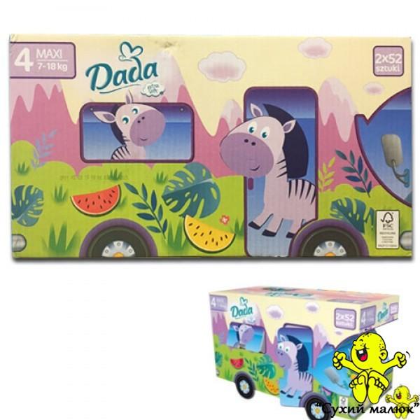 Підгузники Dada Extra soft BOX 4 (104 шт.) 7-18 кг