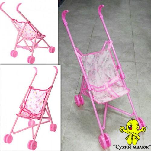 Візок для ляльки, тростинка пластик подвійні колеса, 0881