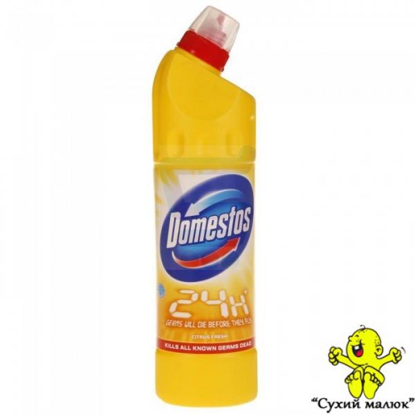 Засіб дезинфікуючий Domestos 24 Plus Lemon 750 мл. Польща