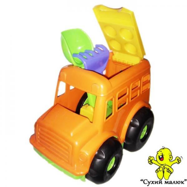 Автобус Бусик COLORPLAST лопатка, грабельки арт. 0084