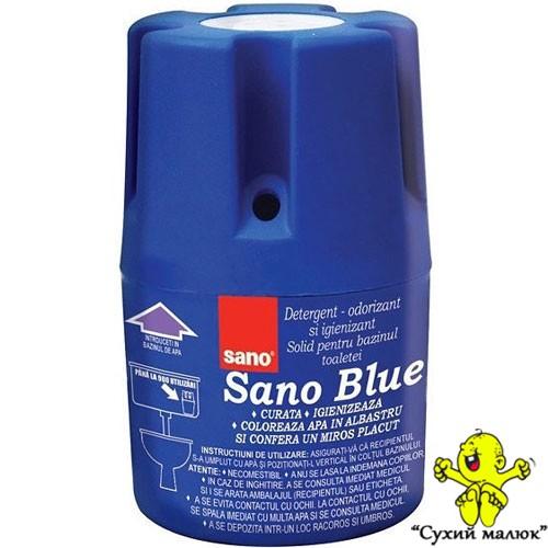 Засіб для миття та дезінфекції унітазу SANO Blue 150g (900 зливань)