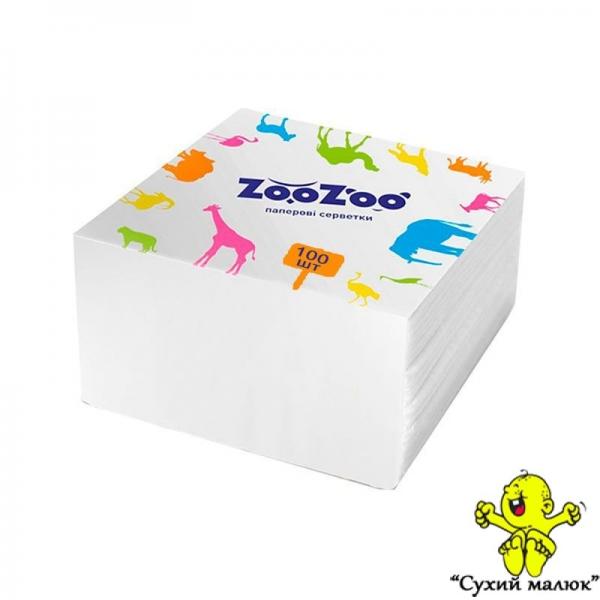 Серветка столова, біла Zoo Zoo Сніжна Панда (100шт)
