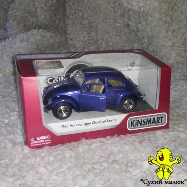 Машинка Volkswagen Beetle металева, інерційна 15см. арт.KT5057W