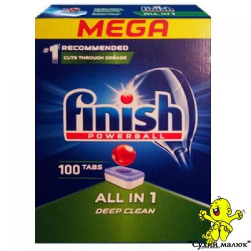 Таблетки до посудомийної машини Finish All in 1 (100 таблеток)