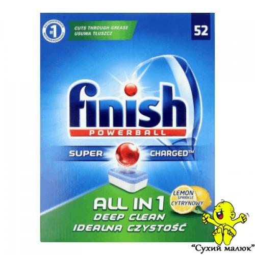 Таблетки до посудомийної машини Finish All in 1 Lemon 52 таблетки