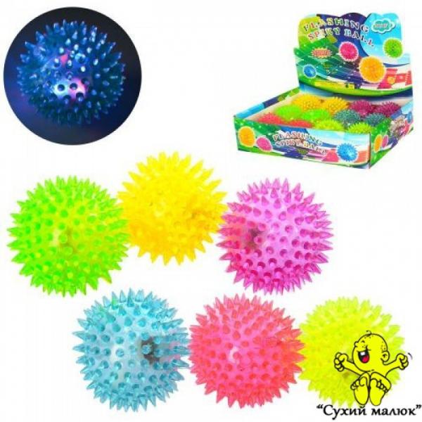 М'яч масажний дитячий 6,5см., світло