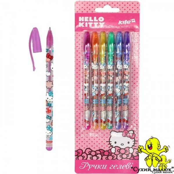 Набір гелевих ручок з глітеромHello Kitty від KITE, 6шт.