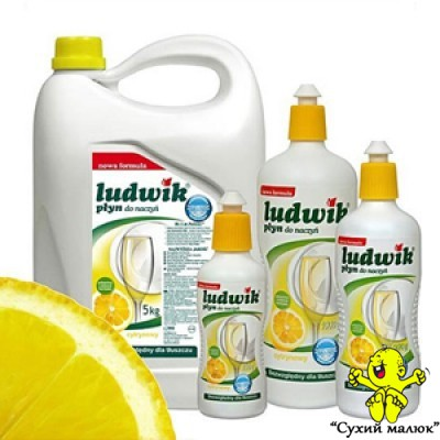 Плин для посуду Ludwik лимон 1л