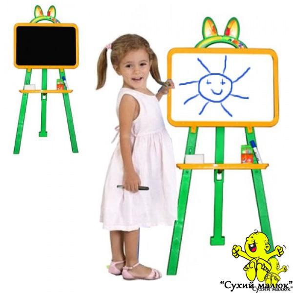 Мольберт двосторонній Active Baby Жовто-зелений (Н 110-130см)