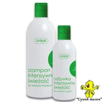 Набір для догляду за жирним волоссям Ziaja Інтенсивна свіжість м'яти (400мл+200мл)