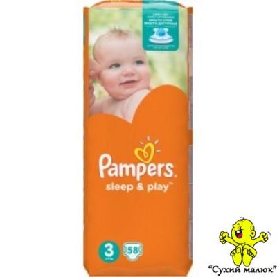 Підгузники Pampers Sleep & Play 3 58шт. (5-9кг)