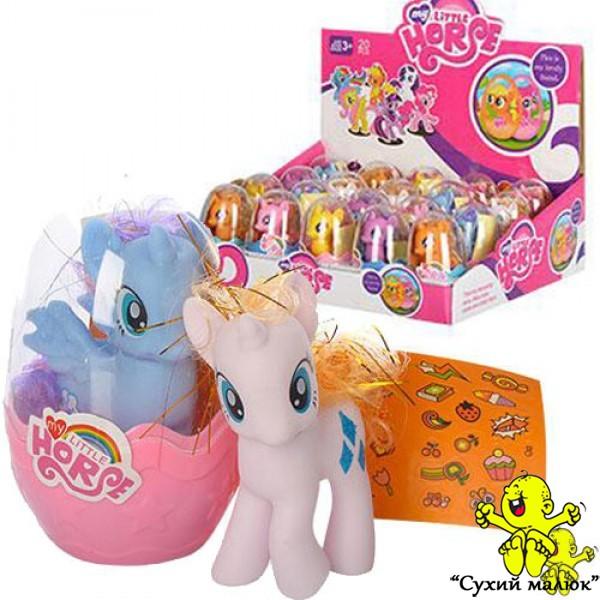 Поні My Little Horse XQ1166B яйце з наклейками, 9см.