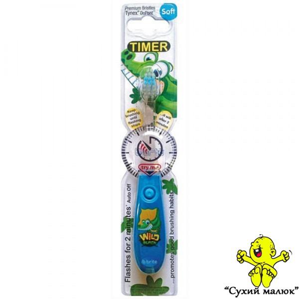 Зубна щітка дитяча Bbrite з таймером SOFT 3р.+ голуба