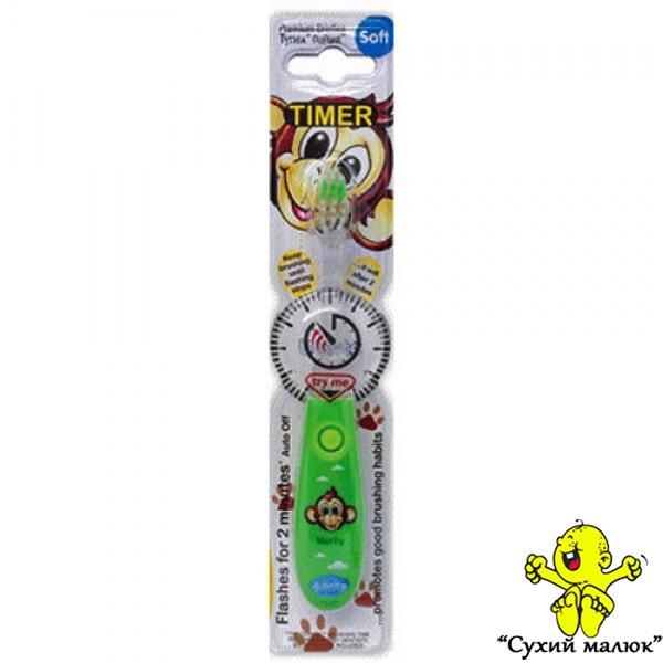 Зубна щітка дитяча Bbrite з таймером SOFT 3р.+ зелена