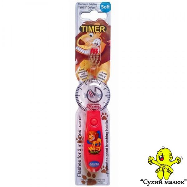 Зубна щітка дитяча Bbrite з таймером SOFT 3р.+ червона