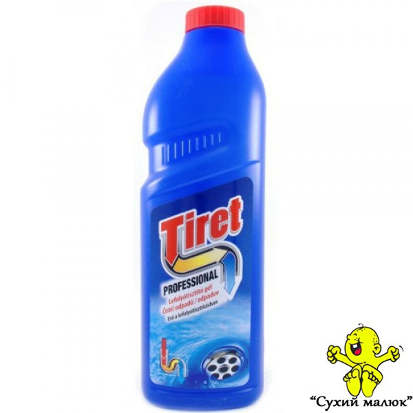 TIRET Professional гель для чищення труб, 1л.