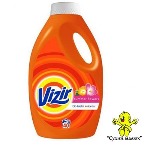 Гель для прання Vizir Summer Flowers 2,6л./40 праннів Літні квіти універсальний