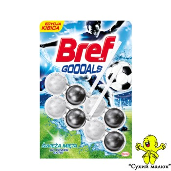 Блок для туалету Bref Bref Gooals Power Activ Свіжа м'ята 2*50g,  Польща