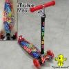 Самокат ITrike Maxi червоний прінт, світло арт.3-055-L до 60кг.