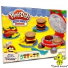 Набір пластиліну Play-Doh Kitchen Бургер Гриль, 5 кольорів